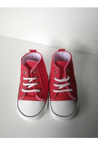 Pattini Bebek Ayakkabı Makosen Bağcıklı Uzun Model Kırmızı 18