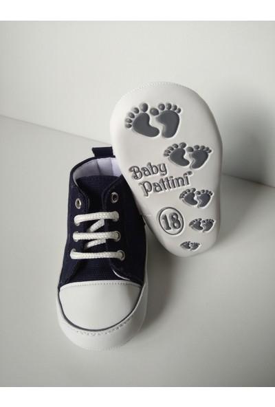 Pattini Bebek Ayakkabı Makosen Bağcıklı Uzun Model Lacivert 18