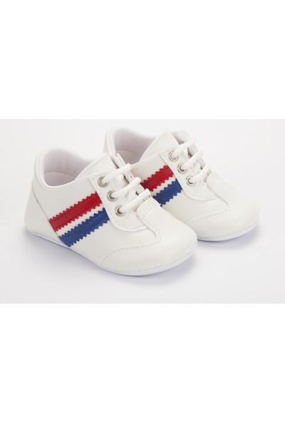 Pattini Bebek Ayakkabı Makosen Spor Kırmızı Lacivert 18