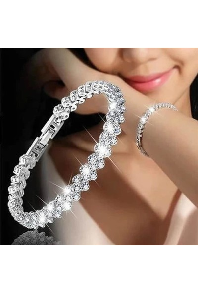 Takı Store Zi̇Rkon Taşli Gümüş Bi̇Lekli̇K
