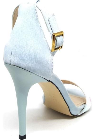 Shop And Shoes 173-305 Kadın Ayakkabı Mavi Süet