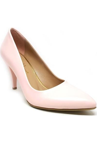 Shop And Shoes 164-1005 Kadın Stiletto Pudra