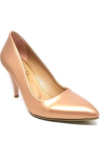 Shop And Shoes 164-1005 Kadın Stiletto Rose Mat