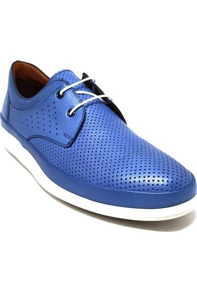 Shop And Shoes 018-653 Erkek Ayakkabı Mavi