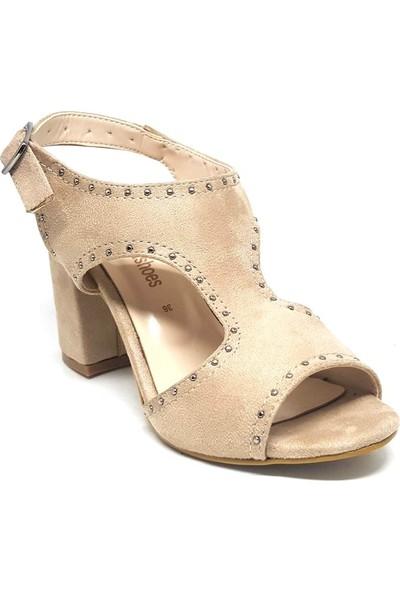 Shop And Shoes 028-1767-02 Kadın Ayakkabı Bej Süet