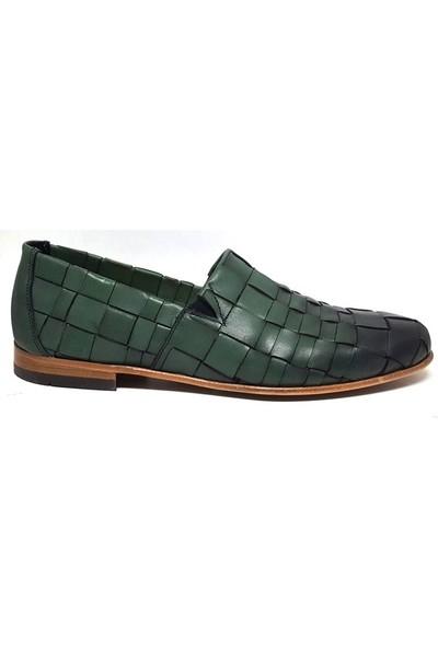 Shop And Shoes 093-4501 Erkek Ayakkabı Yeşil