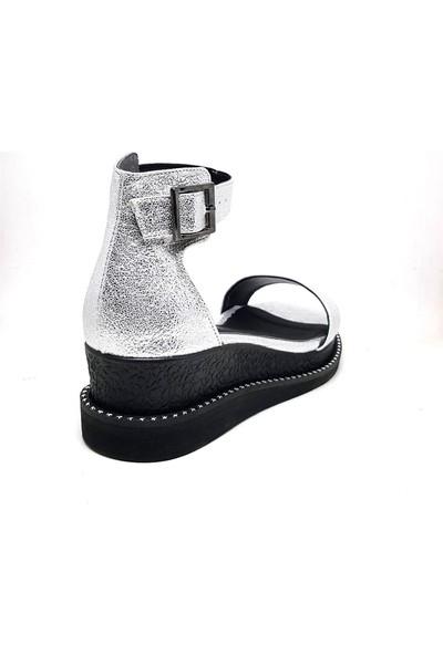 Shop And Shoes 171-900 Kadın Ayakkabı Gümüş