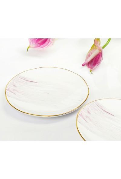 YGC Porselen Özel Tasarım Pasta Tabağı 16 cm