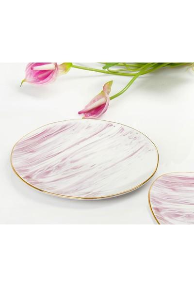 YGC Porselen Özel Tasarım Servis Pasta Tabağı 21 cm