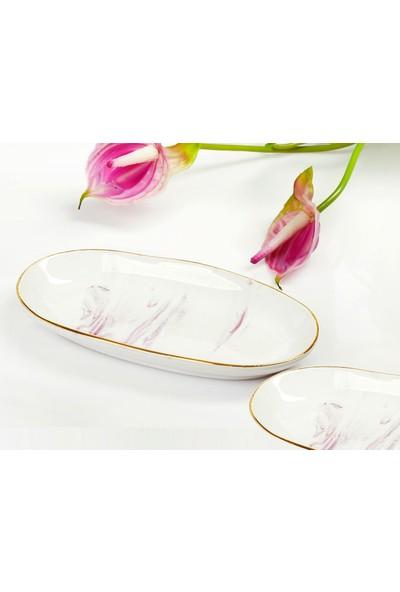 YGC Porselen Özel Tasarım Kayık Servis Tabağı 19 cm