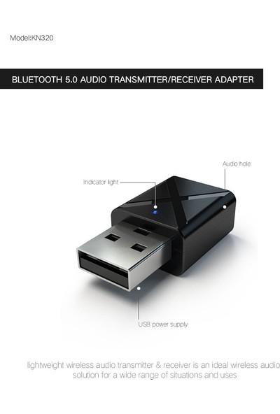 Schulzz Bluetooth 5.0 Stereo Ses Alıcı Verici Mini 3.5mm Aux Tv Pc Araç Kablosuz Adaptör