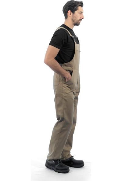 Şensel Bej Askılı Bahçıvan Tulum İş Tulumu İş Elbisesi İş Güvenliği