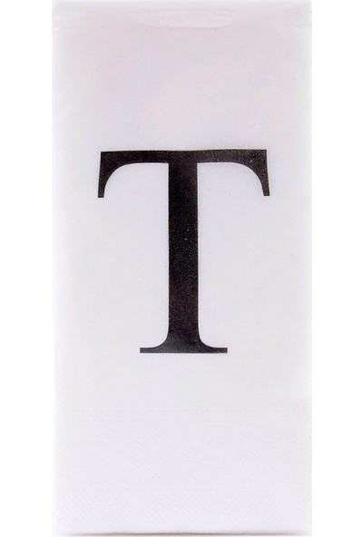 The Company T Harf Peçete 33 cm