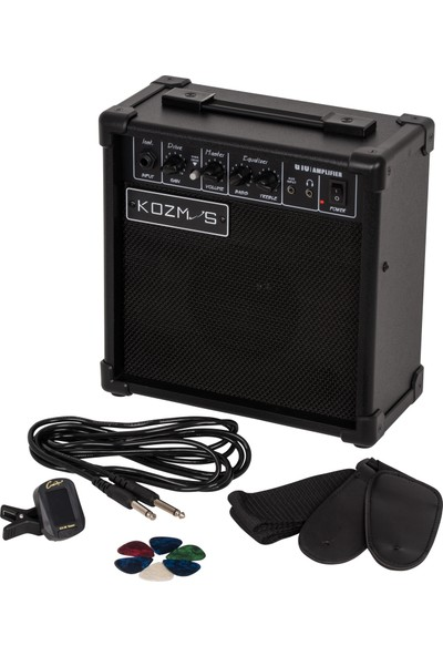 Kozmos KGP-STG10-BK Elektro Gitar Başlangıç Paketi