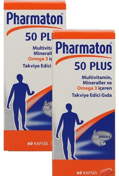 Pharmaton 50 Plus 60 Kapsül 2 Kutu