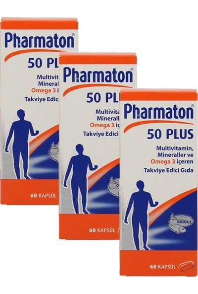 Pharmaton 50 Plus 60 Kapsül 3 Kutu