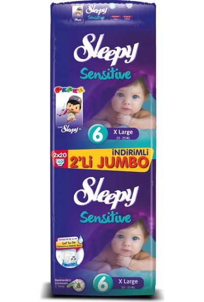 Sleepy Bebek Bezi İkili Jumbo 6 Beden 40 adet