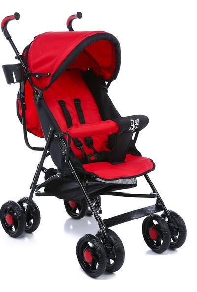 Babybee Luna Baston Bebek Arabası Kırmızı