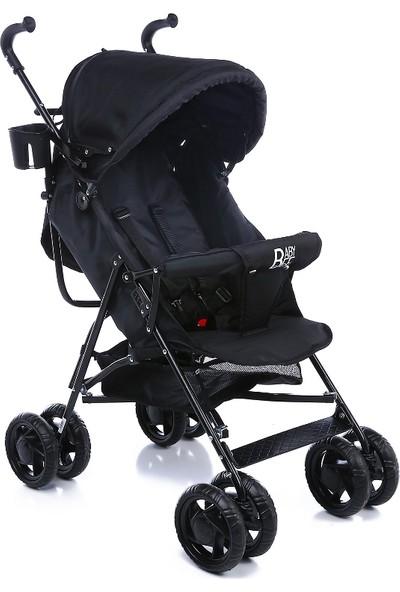Babybee Luna Baston Bebek Arabası Siyah