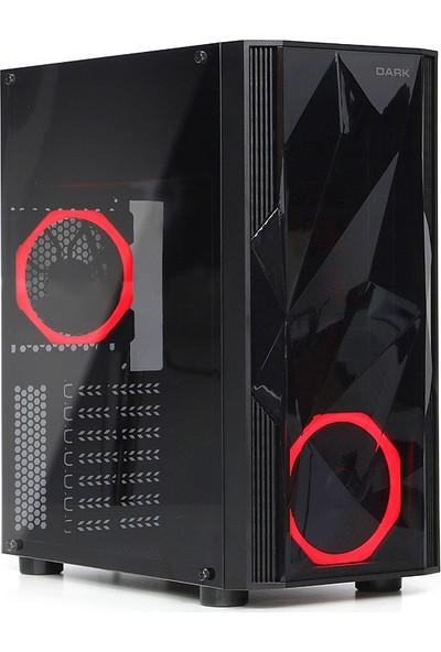 Dark Diamond 400W 2x12cm Kırmızı Led Fanlı USB 3.0 Bilgisayar Kasası (DKCHDIAMOND400)