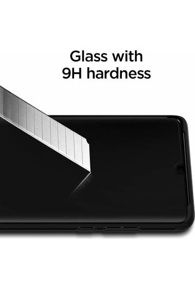 Spigen Huawei P30 Pro Kavisli Cam Ekran Koruyucu Tam Kaplayan Full Cover Black - L37GL25745
