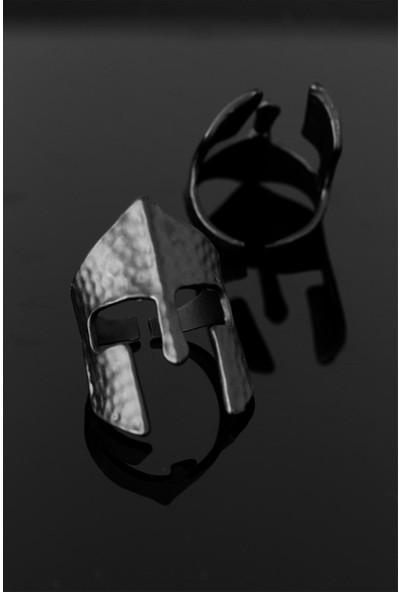 Bu Farklı Çelik Miğfer Figür Ayarlamalı Erkek Yüzük - Bf9558