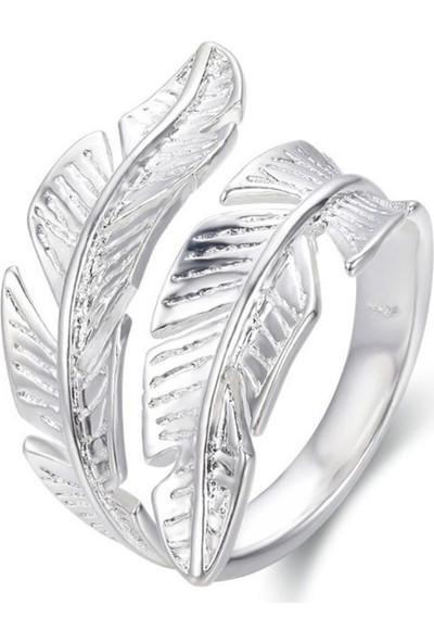 Vipbt 925 Ayar Çift Yaprak Ayarlanabilir Gümüş Yüzük