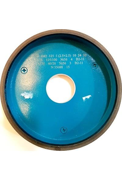 Pultuva Elmas Bi̇leme Karbür Aşındırıcı 6A2 Otomatlar İçi̇n 125 x 6 x 10 x 32 Çi̇ft Kum 125 x 100 x 40 x 28