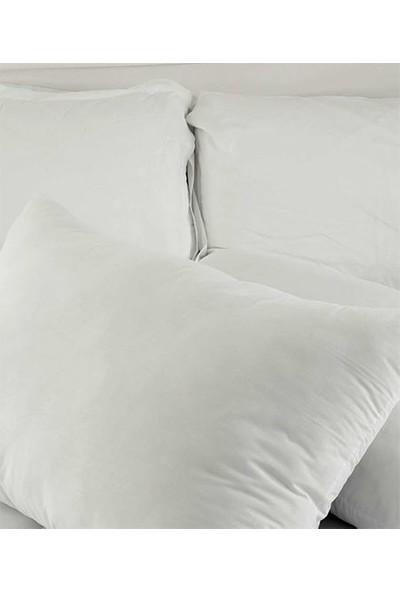 Wellamode Doygun %100 Pamuk Kılıflı 1000 Gram Boncuk Si̇li̇kon Elyaf Yastık