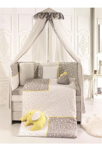 Pierre Cardin Smiley Stars Bebek Beşik Uyku Seti 75 x 130 cm Grey Yellow