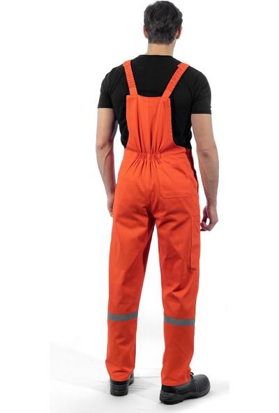 Şensel Reflektörlü Askılı Bahçıvan Tulum İş Tulumu İş Elbisesi İş Güvenliği