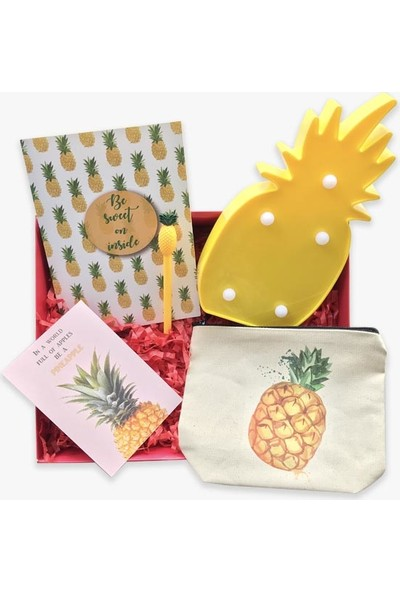 Konsept Kutu Ananas Hediye Kutusu
