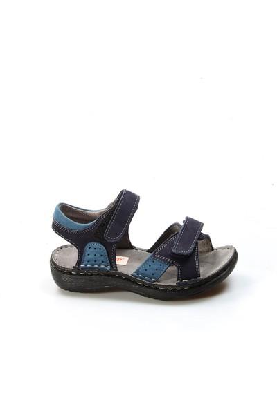 Fast Step Sandalet Erkek Çocuk 896Pa7029 Lacivert Nubuk