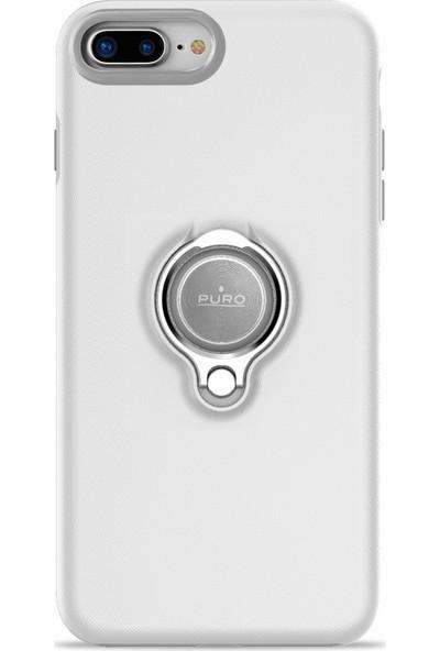 Puro Magnet 360° iPhone 7/8 Plus Ring Cover White