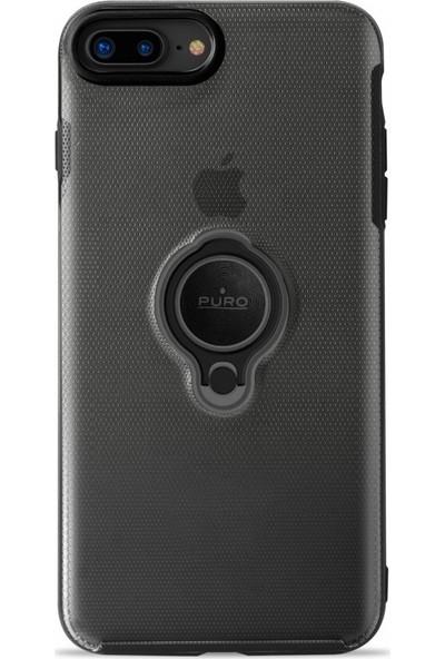 Puro Magnet 360°iPhone 7/8 Plus Ring Cover Black