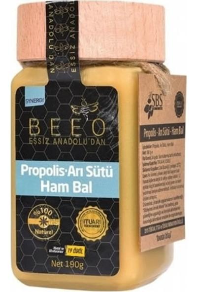 Beeo Propolis Arı Sütü Ham Bal Yetişkinler İçin 190 gr