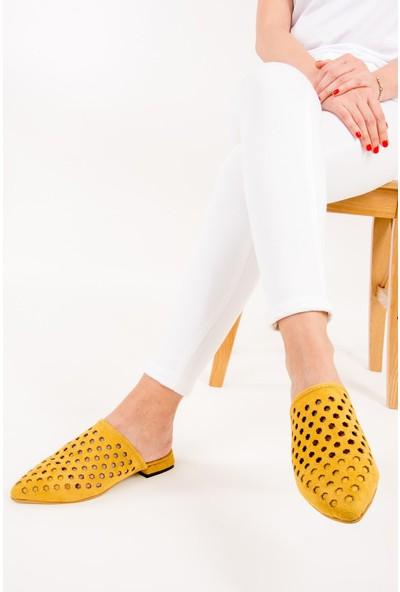 Fox Shoes Hardal Kadın Terlik F615680502