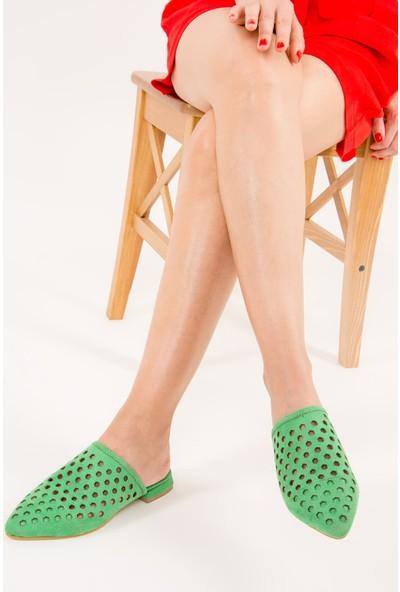 Fox Shoes Yeşil Kadın Terlik F615680502