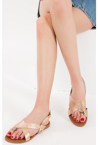 Fox Shoes Bakır Kadın Sandalet F713008014