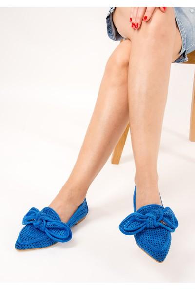 Fox Shoes Saks Mavi Kadın Ayakkabı F615681102