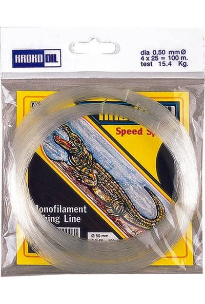 Krokodil Beyaz Poşet Misina 100mt-0,40mm
