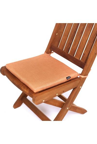 Seduna Remini Hardal Kumaş Sandalye Minderi 40 x 40 x 3 cm