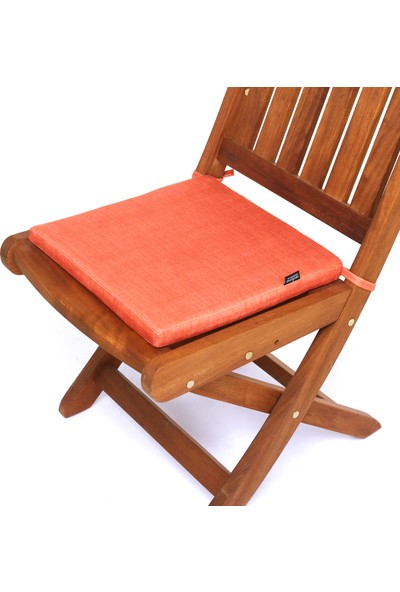 Seduna Remini Turuncu Kumaş Sandalye Minderi 40 x 40 x 3 cm