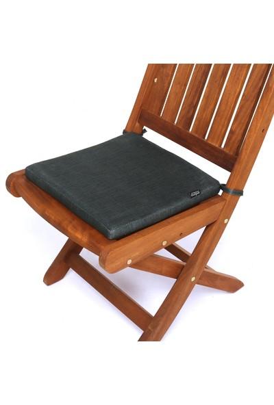 Seduna Remini Haki Kumaş Sandalye Minderi 40 x 40 x 3 cm