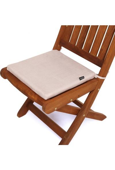 Seduna Remini Krem Kumaş Sandalye Minderi 40 x 40 x 3 cm