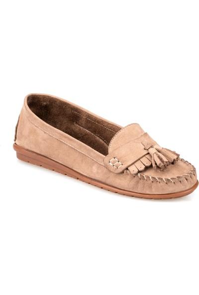 Polaris 91.100772Nz Kum Rengi Kadın Deri Ayakkabı