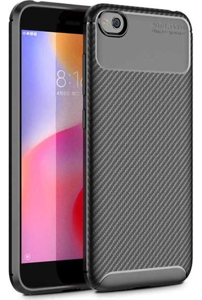 Coverzone Xiaomi Redmi Go Kılıf Pc Karbon Delüx Tpu Silikon Siyah + Temperli Ekran Koruma + Dokunmatik Kalem