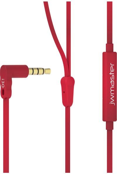 Jwmaster İ30 Mikrofonlu Kulak İçi Kulaklık Kırmızı