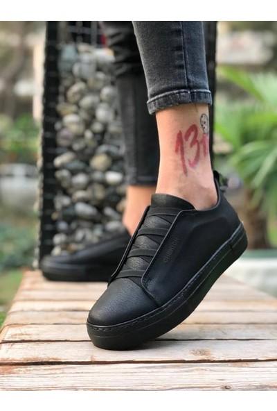 Chekich CH013 İpekyol Siyah Taban Erkek Ayakkabı Si̇yah