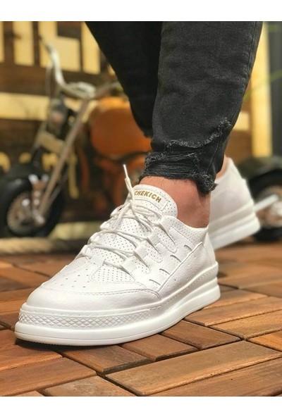 Chekich CH040 İpekyol Beyaz Taban Erkek Ayakkabı Beyaz